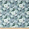 Primrose Floral Watercolor Dove Grey