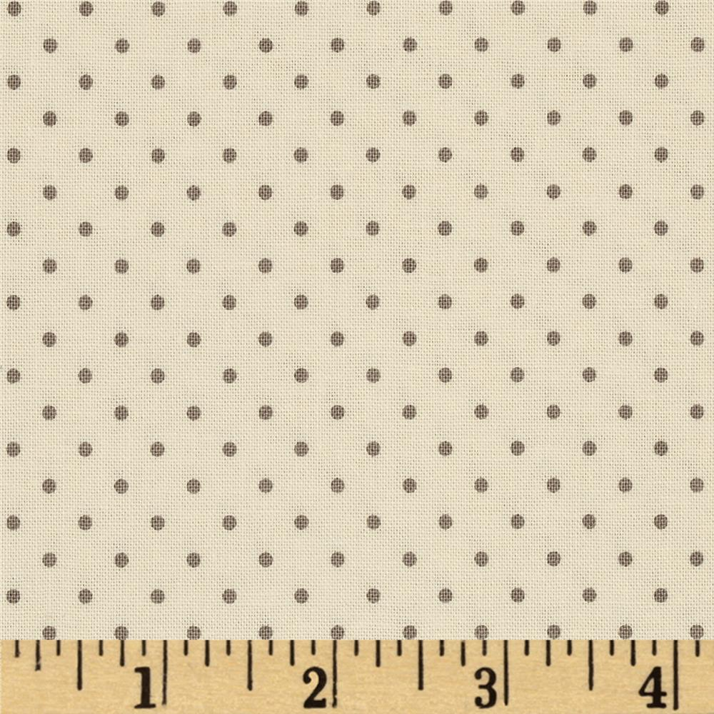 Riley Blake La Creme Basics Swiss Dots Cream/Grey
