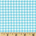 Lecien Flower Sugar Houndstooth Turquoise