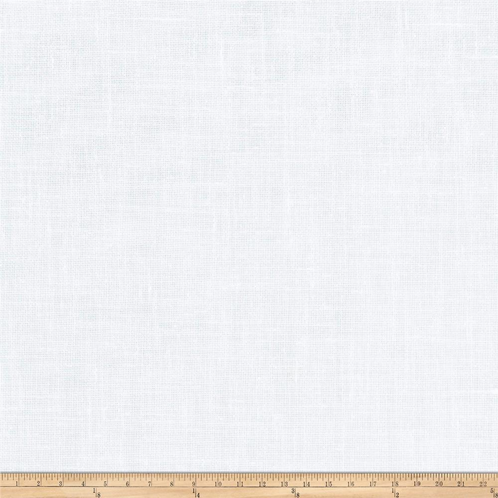 "Fabricut Lisa 127"" Sheer Linen Blend White"