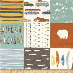 Birch Organic Flannel Feather River Patch Multi