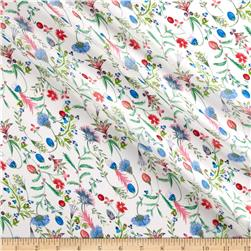 Liberty of London Regent Silk Chiffon Temptation Meadow Red/Blue/Green