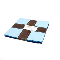 "Robert Kaufman Kona Solids Sky Gazer 10"" Layer Cake"