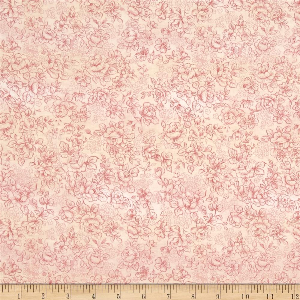 Floral Patchwork Small Rose Cream Pink