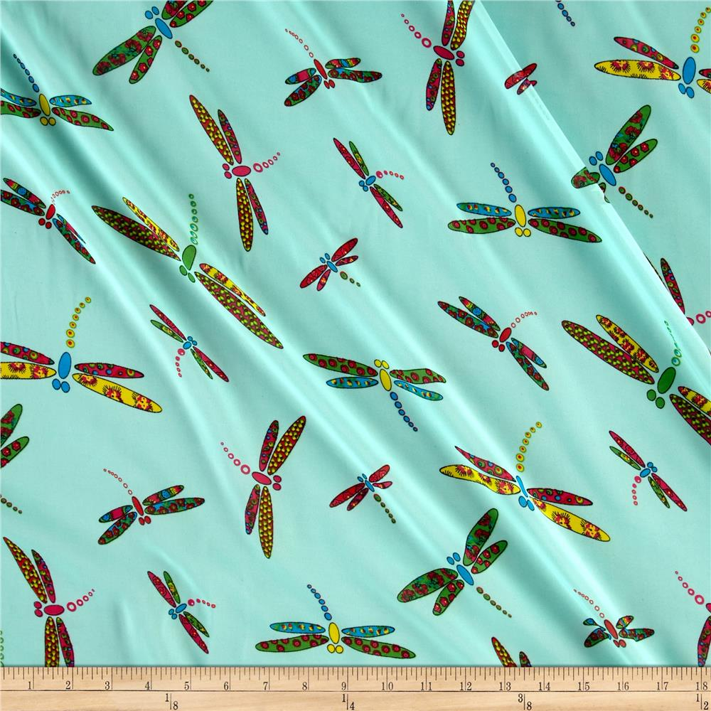 Chiffon Dragon Fly Aqua