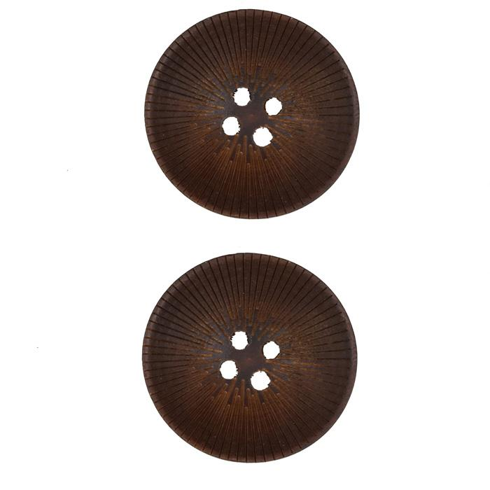 Wood Button 1 1/8'' Radiant Natural