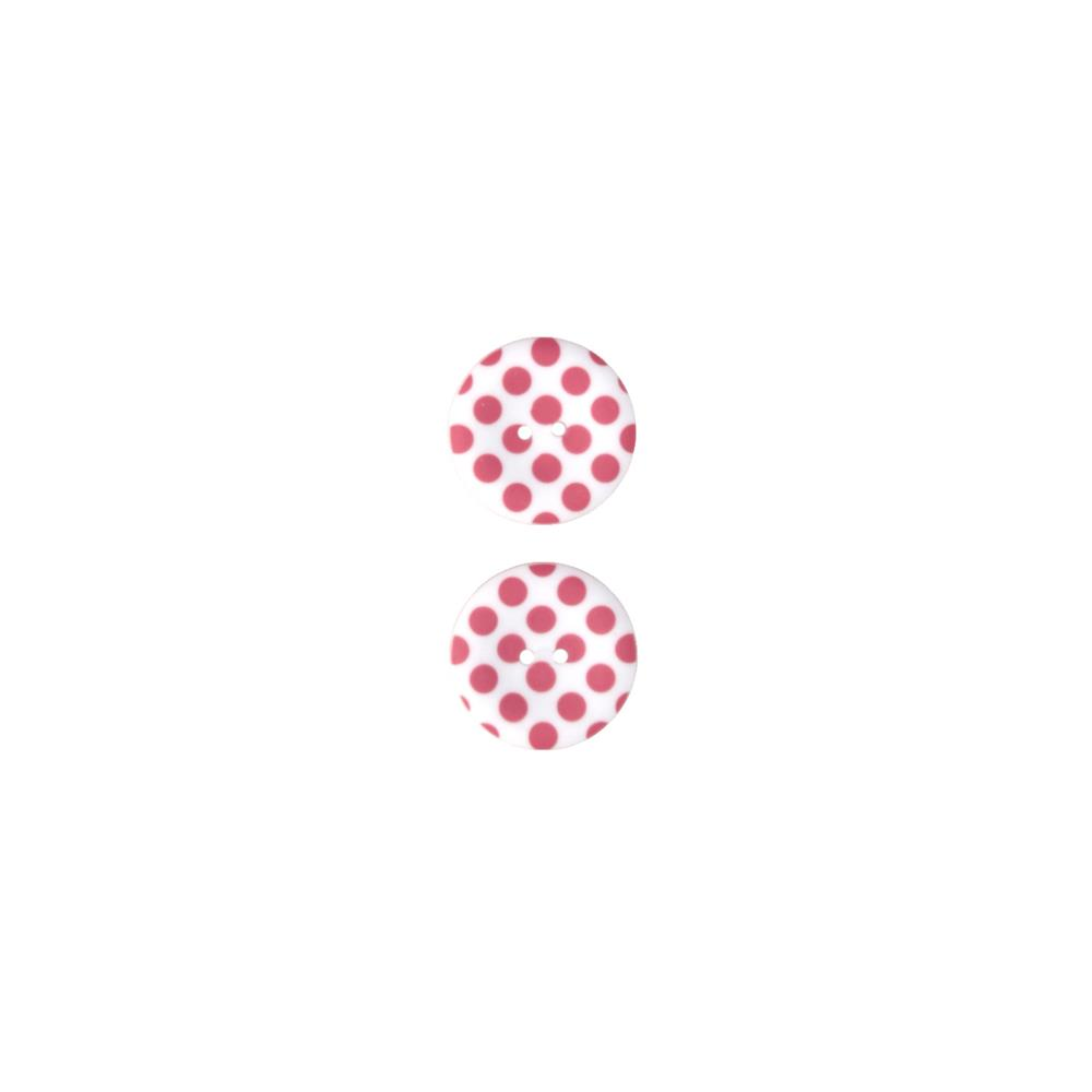 Riley Blake Sew Together 1 1/2 Matte Button Dots Raspberry