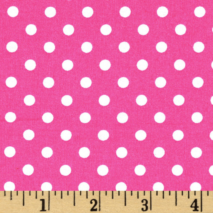 Michael Miller Dumb Dot Fuchsia Fabric
