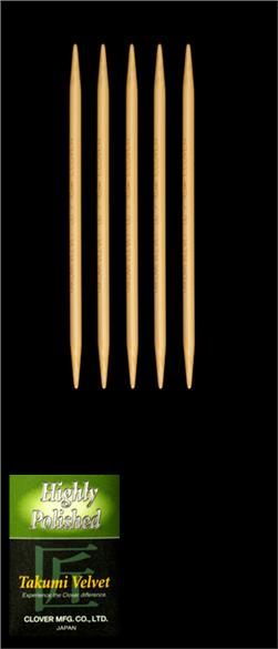 CloverTakumi Velvet Knitting Needles Double Pt. 5'' US 7 (4.5mm)