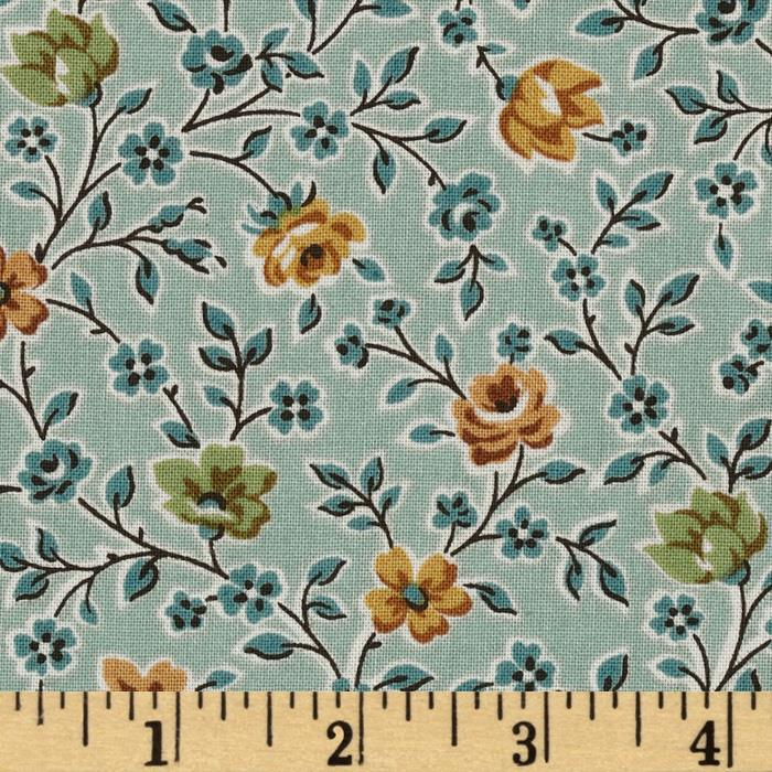 Garden Maze Small Packed Floral Blue