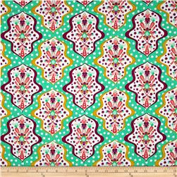 Riley Blake Floriography Damask Green
