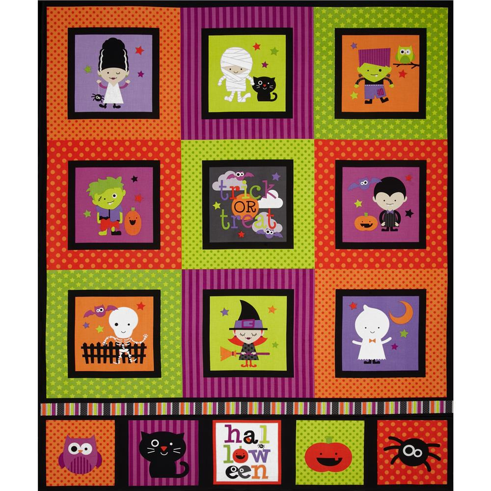 Riley Blake Halloween Parade Halloween Panel Multi