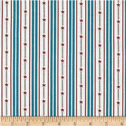 By the Sea Bay Star Stripe Blue/Multi Fabric