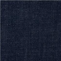 Stretch Crosshatch Denim Dark Wash Mid Blue