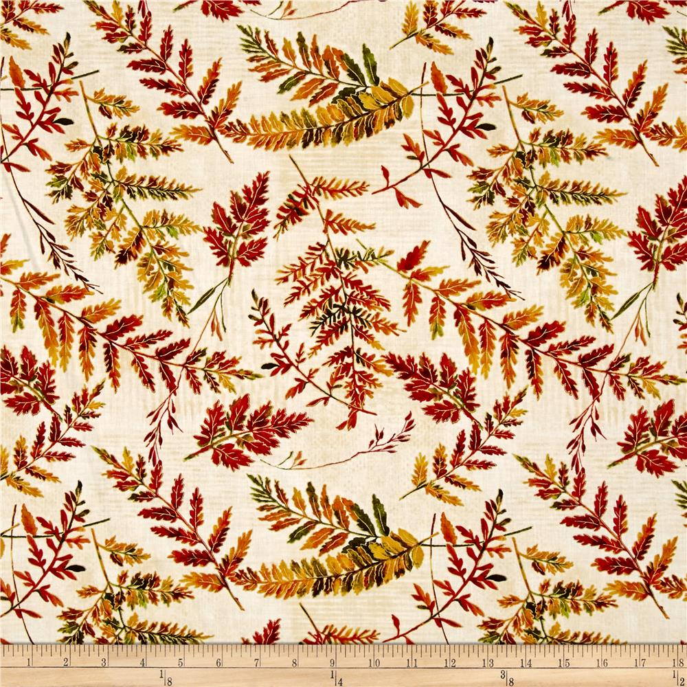 Autumn in the Forest Tree Branches Cream