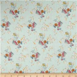 French Designer Cotton Voile Small Floral Mint/Multi