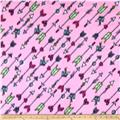 Winter Fleece Camp Arrows Pink