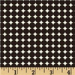 Word Play Dots Brown/Cream Fabric