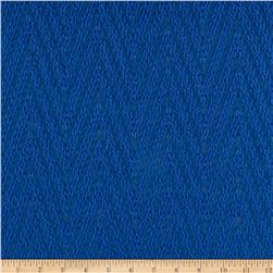 Palermo Chiffon Chevron Royal Blue