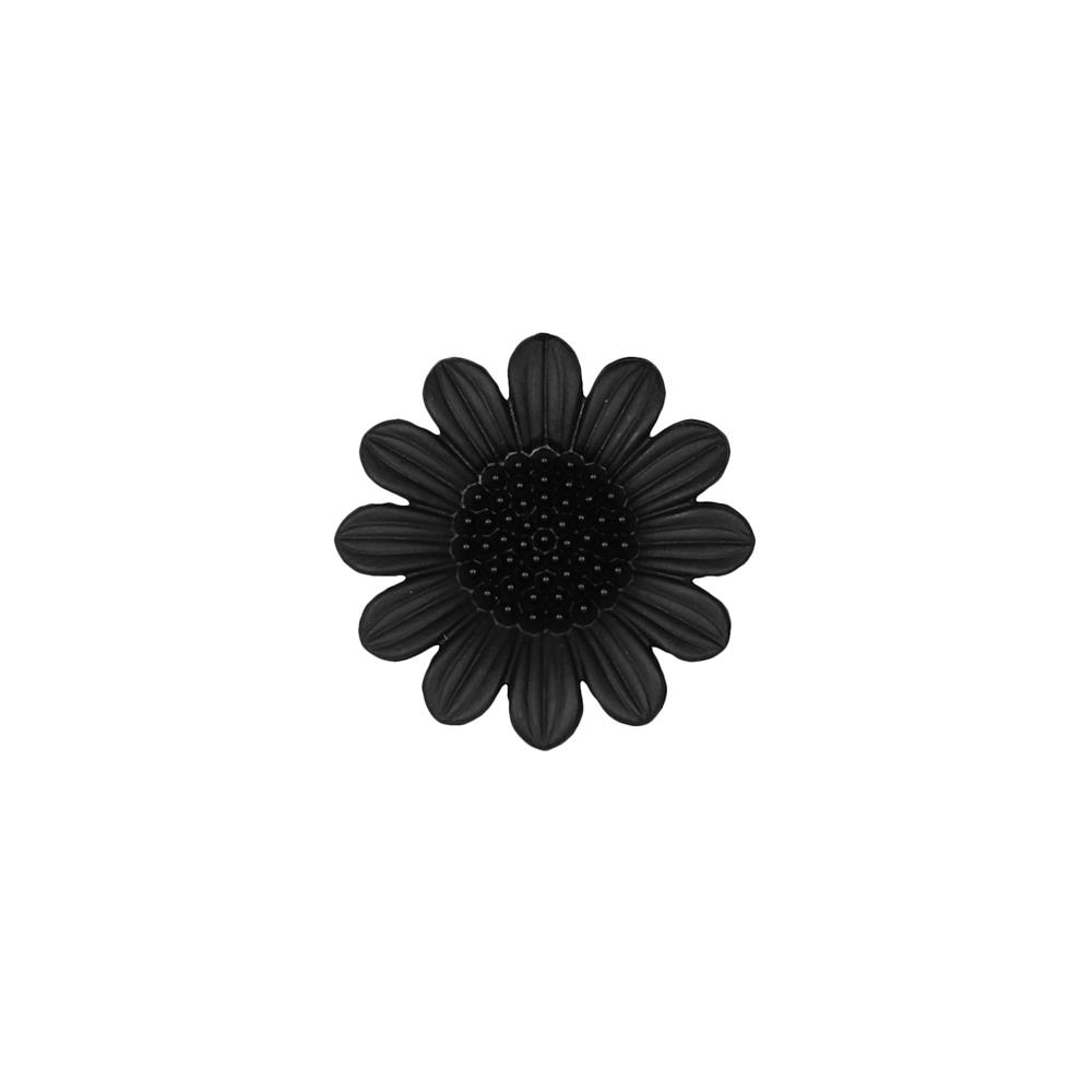 Dill Novelty Button 1 1/8'' Daisy Black