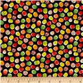 Forest Friends Abstract Dot Black Multi