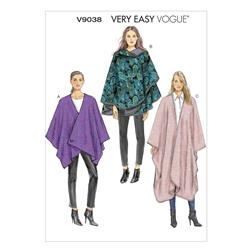 Vogue Misses' Cape Pattern V9038 Size 0Y0