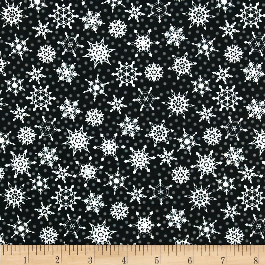 Crystal Palace Snowflake Polka Dot Black