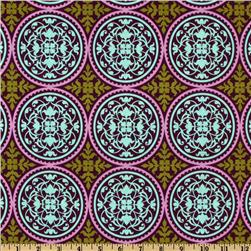 Aviary 2 Scrollwork Plum Fabric