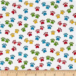 Miss Kitty's Colors Paw Print Multi