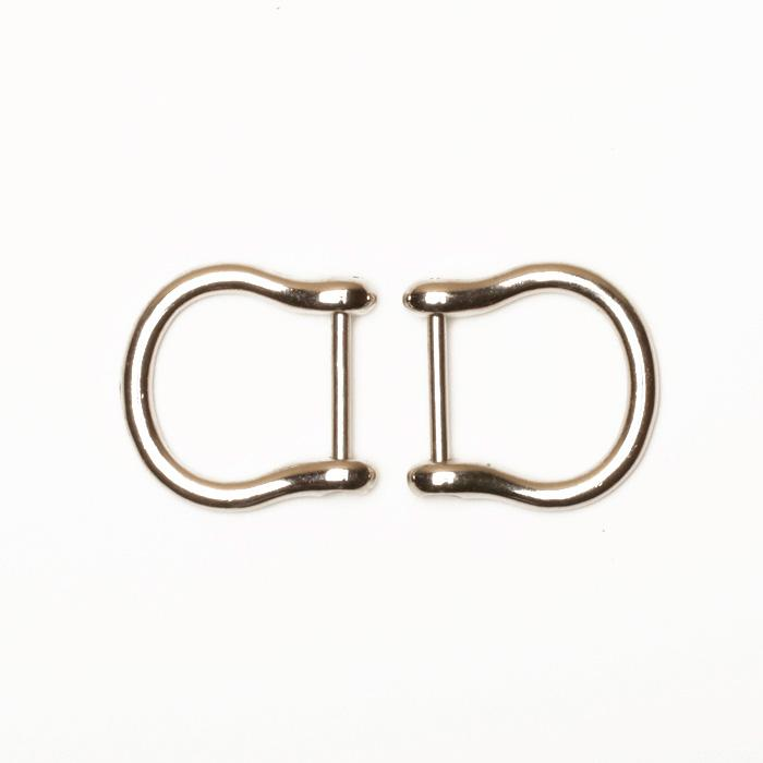 Nickel Purse Handle Hooks 3/4
