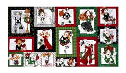 "Loralie Designs Fairy Merry Christmas 23.5"" Panel Multi"