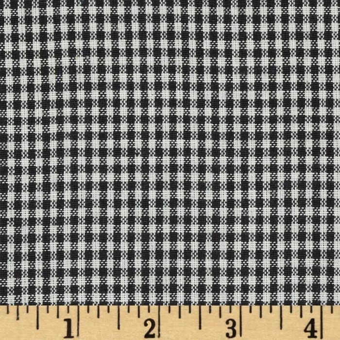 Yarn-Dyed Plaid Shirting Black/White