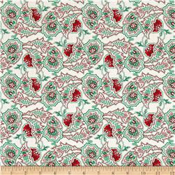 Verna Mosquera Peppermint Rose Paisley Path Dove