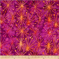Michael Miller Batiks Jewel Atomic Burst Jewel Fuchsia
