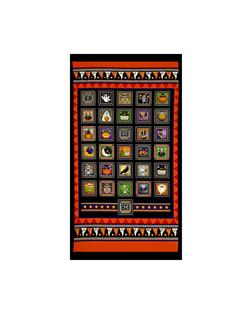 Creepy Hollow Halloween Patch 24 In. Panel Black/Orange