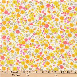 Kaufman Petite Garden Floral Spray Sunshine