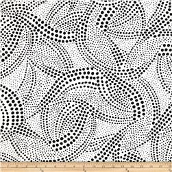 Kanvas What a Whirl Twister Dot White Fabric