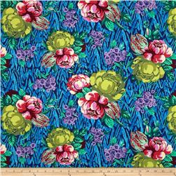 Amy Butler Hapi Tapestry Rose Sapphire Fabric