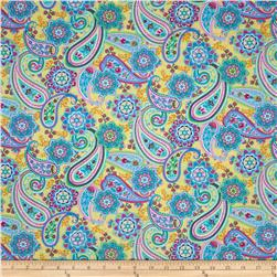 Timeless Treasures Claire Paisley Yellow