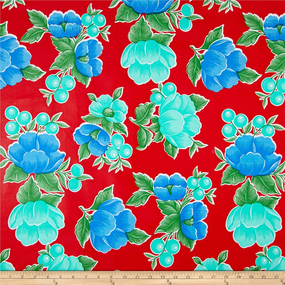 Oil Cloth Poppy Red