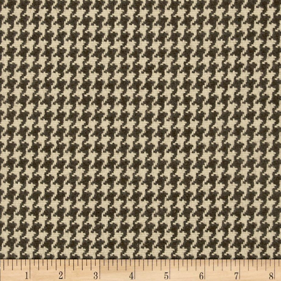 Wool Blend Coating Mini Houndstooth Black/Grey