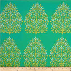 Amy Butler Lark Home Decor Sateen Henna Trees Grass
