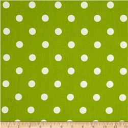 Premier Prints Polka Dot Chartreuse/White Fabric