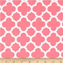 Riley Blake Medium Quatrefoil Coral