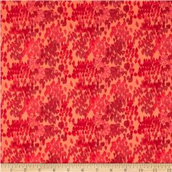 Flora by Kelly Ventura Fields Lawn Red