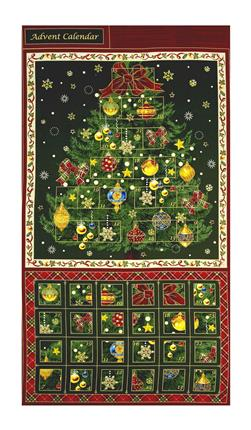 "Season's Greeting Advent Calender 24"" Panel Multi"