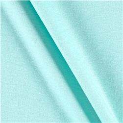 Jersey Knit Solid Pale Aqua