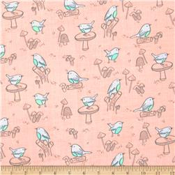 Little Bird Birds Double Gauze Pink