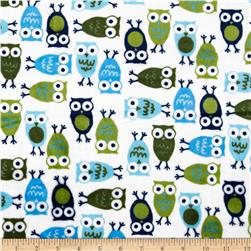 Minky Cuddle Urban Zoologie Night Owl Midnight Fabric