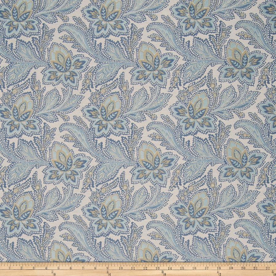 French General Fleur Indienne Jacquard Bleu